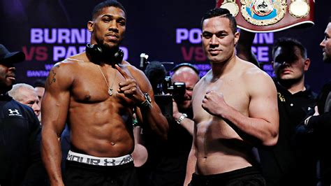 anthony joshua and joseph parker weigh in light ahead of