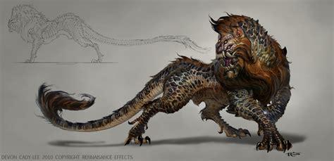 analyzing fallout 4 concept art aliens boss enemies the orphan beast by gorrem on deviantart