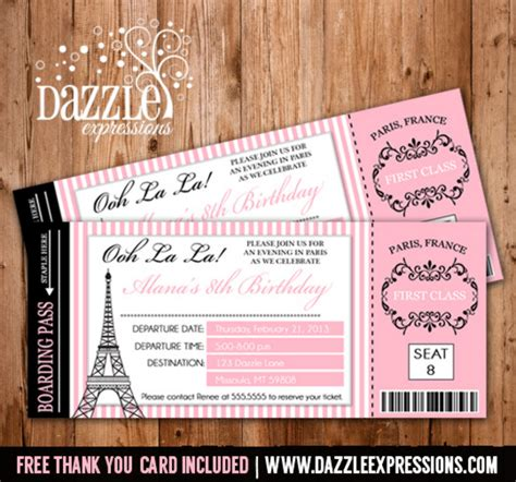Save The Date Christmas Party Template Free - printable paris boarding pass invitation kids ticket invitation free thank you card