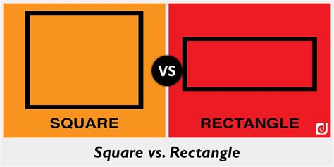 rectangle square difference between square and rectangle