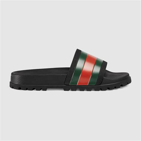 Slip On Gucci Wedges Importshoes gucci web slide sandal in black for lyst