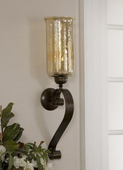 Glass Wall Sconce Candle Holder 30 Quot Tuscan Glass Wall Sconce Candle Holder 2 1 2