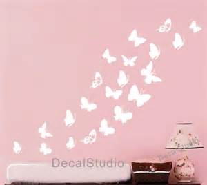 White Butterfly Wall Stickers Butterfly Set Home Vinyl Decal Bedroom Girl Nursery White