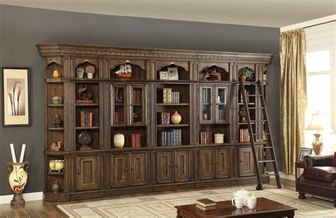 library wall units bookcase parker house aria bookcase library wall unit ph ari