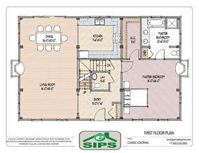 Small Open Floor Plan by Open Floor Plan Colonial Homes House Plans Pinterest
