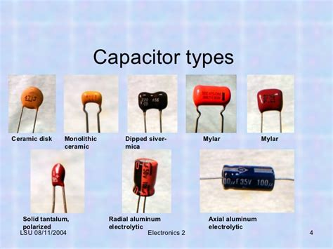 what are the type of capacitors tech skills capacitor 07 21 11