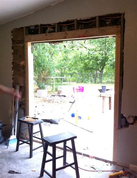 Patio Door Framing Diy Install Patio Door In Brick Or Limestone Wall