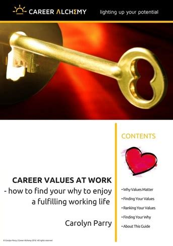 a guide to finding career treasure an 8 step workbook for discovering opportunities books values at work