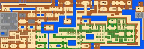 legend of zelda nes map first quest crude ascii maps ganon s revenge