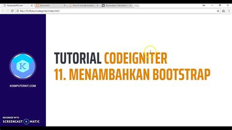 tutorial bootstrap tutorial bootstrap less tutorial codeigniter 11