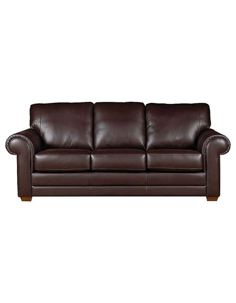 hudson bay sofa home furniture lake como leather sofa with rolled arms