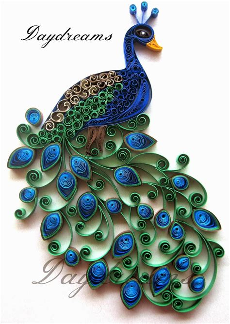 How To Make Paper Quilling Peacock - daydreams quilled peacock embroidery design inspired
