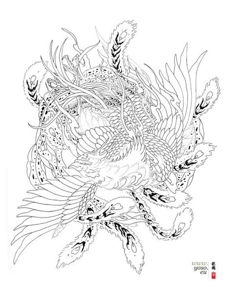phoenix tattoo designs japanese traditional japanese phoenix drawing google search