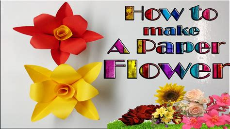 How To Make Simple Crafts With Paper - how to make a simple paper flower paper crafts diy