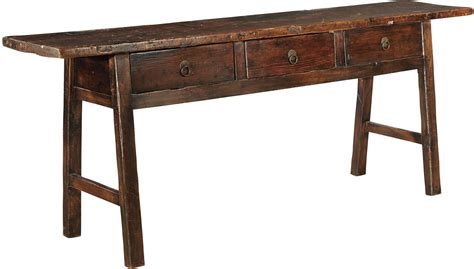 brown console table butcher brown console table from furniture classics