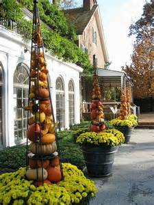 pumpkin tower containers planters pinterest