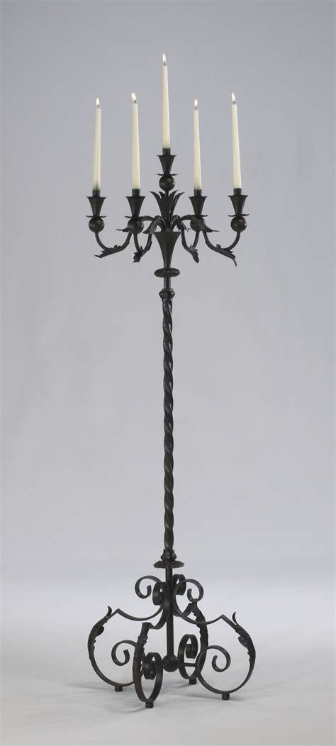 Large Iron Floor Candelabra by Cyan Design