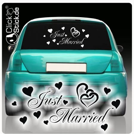 Auto Sticker Just Married by Autoaufkleber Just Married Sticker Hochzeit Aufkleber