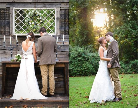 rustic vintage backyard wedding of emily hearn rustic