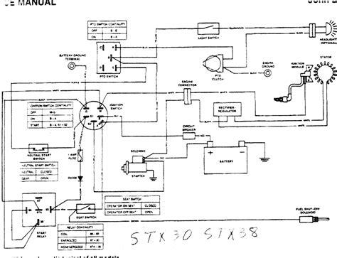 deere stx38 wiring diagram radiantmoons me