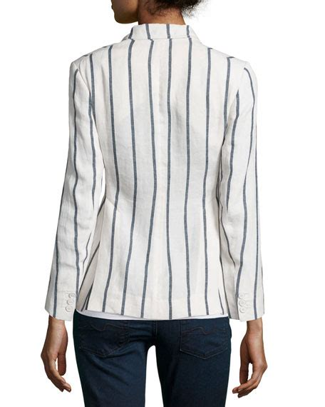 Stripe Wool Blazer theory brightdale wide stripe wool blazer white blue