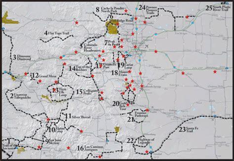 colorado scenic byways map experience the grandeur of colorado scenic byways