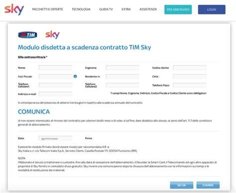 modulo disdetta mobile fastweb disdetta sky salvatore aranzulla