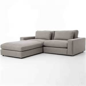 bloor gray contemporary 3 small sectional sofa