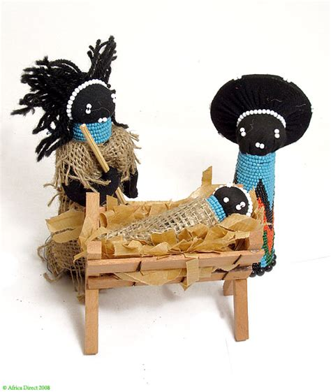 zulu nativity doll set beaded figures boxed s africa ebay