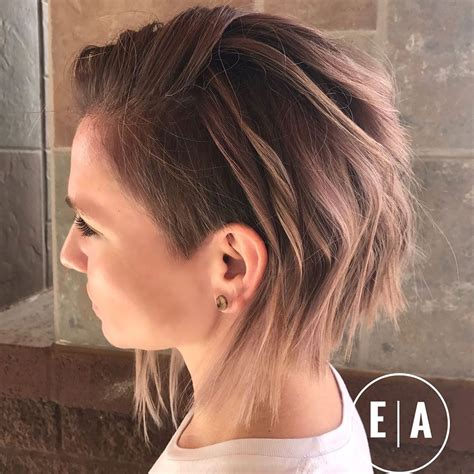 cute shaved hairstyles  women