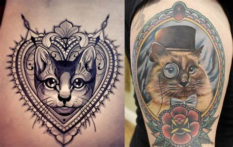 imagenes tatuajes gatos tatuajes de gatos im 225 genes y dise 241 os que te encantar 225 n