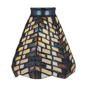 Stained Glass Shades For Ceiling Fans Geometric Style Stained Glass Ceiling Fan Shade Ebay
