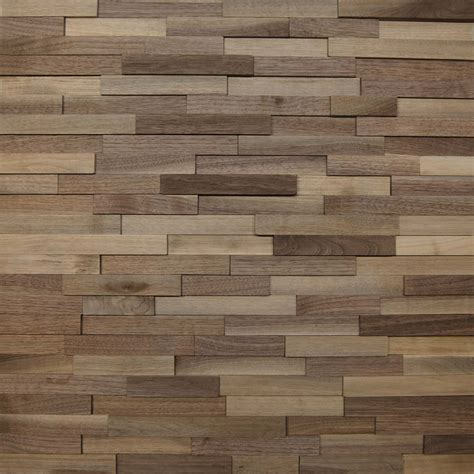 wooden wall wallure striped walnut narrow sleek natural wooden