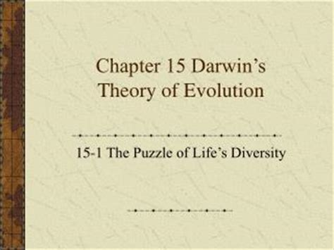 section 15 2 review theories of evolution ppt chapter 16 darwin s theory of evolution powerpoint