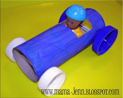 Toilet Paper Roll Car Craft - preschool crafts for toilet roll car craft