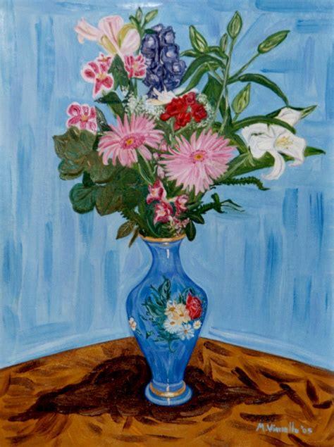 vaso di fiori gogh vianello massimiliano pittore figurativo