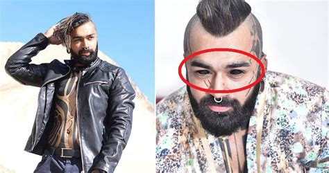 tattoo eye delhi shocking this delhi guy became the first indian to get