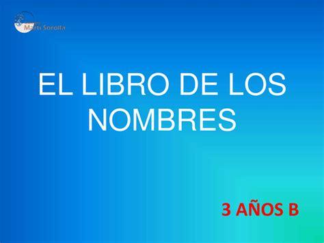 el libro de los nombres technum el libro de los nombres 3 a 241 os b