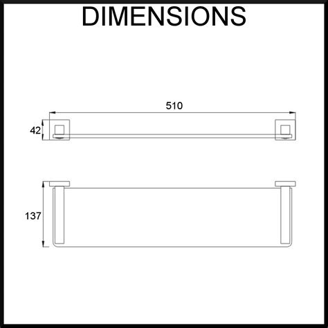 Shelf Dimensions by Bathroom Quadro Glass Shelf Stainless Steel