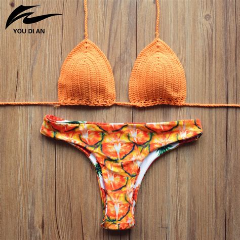 Handmade Swimsuits - aliexpress buy 2016 knitted ananas swimsuit