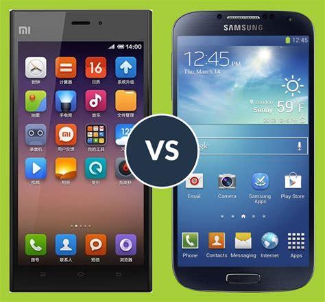Handphone Samsung Xiaomi xiaomi mi3 vs samsung galaxy s4