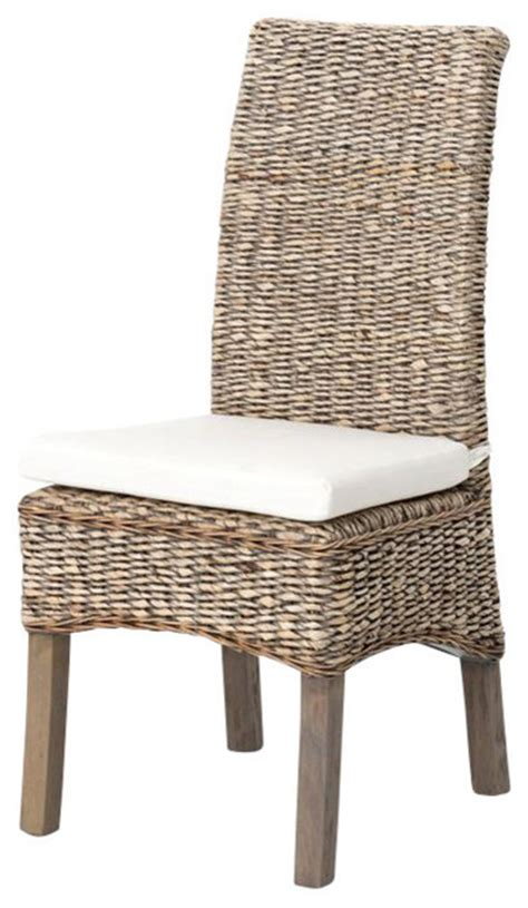 banana leaf armchair kyla banana leaf chair w cushion grey wash tropical
