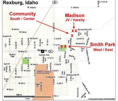 Of Idaho Mba by Map Of Rexburg Idaho Map