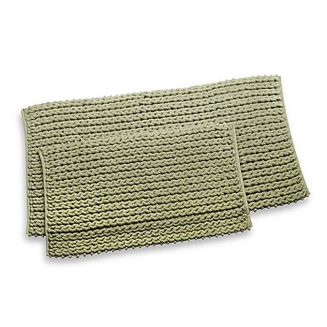 cable knit rug rv cable knit 24 quot x 48 quot bath rug bed bath beyond