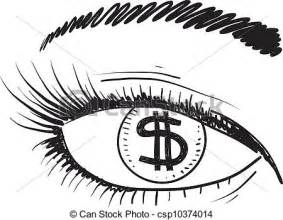 vector clip art of an eye for money sketch doodle style