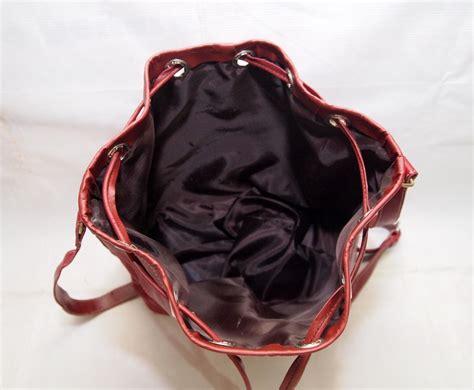 Tas Serut Drawstring tas kulit asli drawstring serut slempang vintage kode produk ks02 koesoema bags
