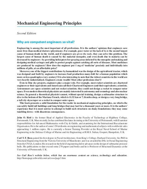 mechanical engineering principles  edition
