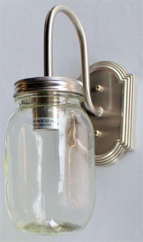 Jar Vanity Light by Jar Vanity 1 Light New Quart Clear Half Gallon Jars Jar Sconce And
