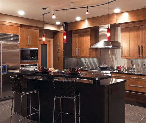 kitchen cabinets cherry finish door style summit 187 design style contemporary room