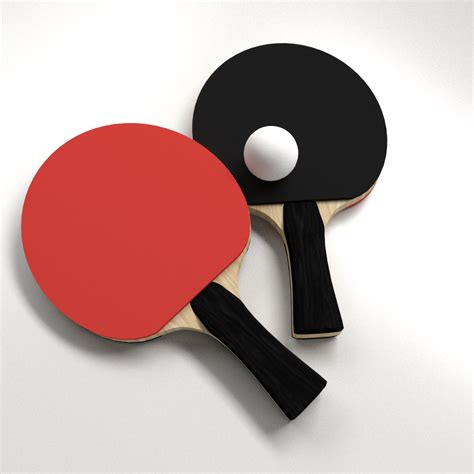 ping pong set for any table table tennis set 3d model 3ds fbx blend dae cgtrader com